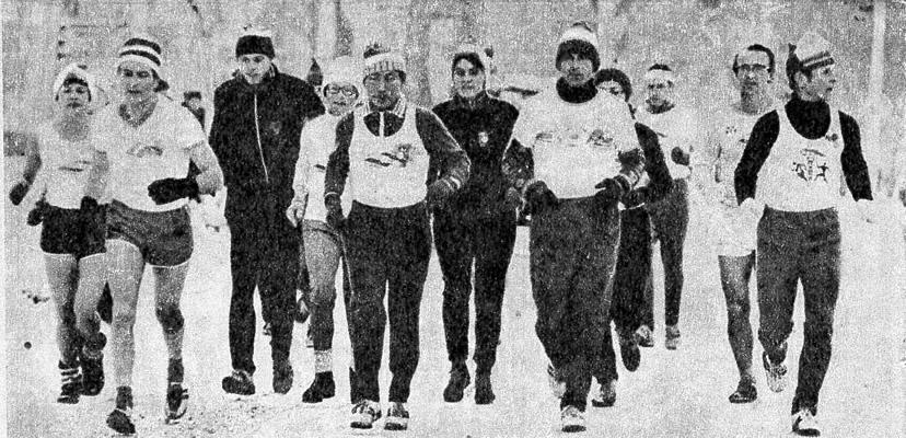 Бегунов из «Олимпа» можно видеть на улицах города и летом и зимой