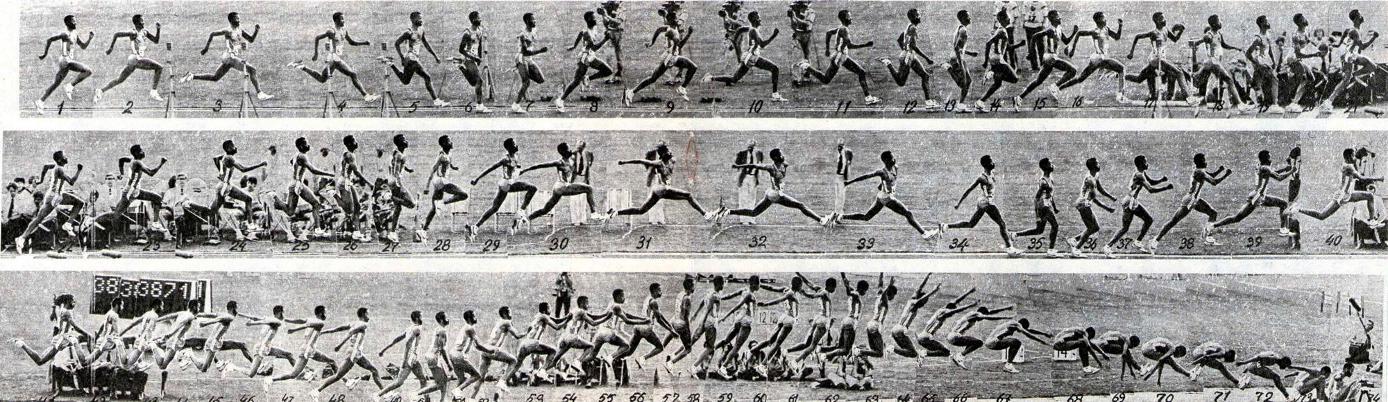 Кинограмма прыжка Уильяма Бэнкса