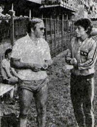 Кратохвилова с тренером Мирославом Квачем