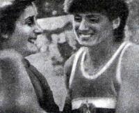 Л. Андонова и Т. Быкова после соревнований