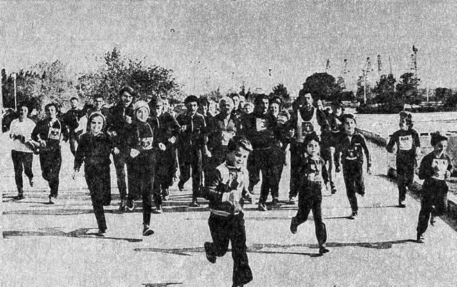 Очередной массовый пробег в Баку