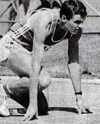 Победитель «Дружба-84» в эстафетном беге 4X400 м Александр Курочкин