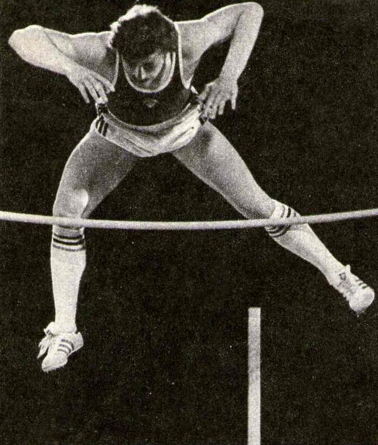 С. Бубка в прыжке на 5,85