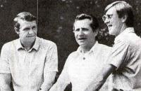 Слева направо: Вячеслав Степанов, Анатолий Юлин и Юрий Калёкин