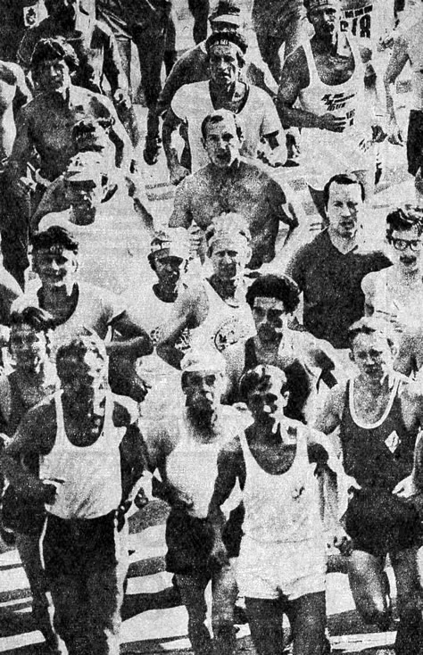 Старт обычных участников марафона