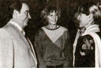 Тамара Быкова во время встречи с Генеральным секретарем ФКП Жоржем Марше