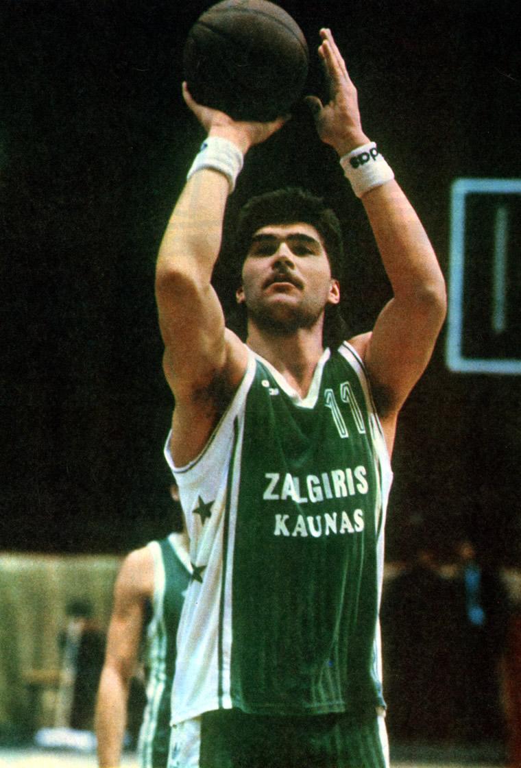 Лидер каунасского «Жальгириса» Арвидас Сабонис