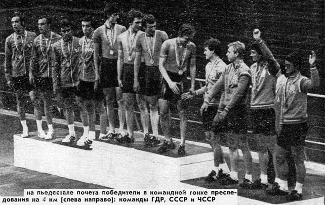 Команды ГДР, СССР и ЧССР