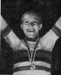 Н. Кибардина чемпионка мира 1980 г. в индивидуальной гонке преследования на 4 км