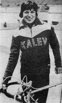 Рекордсменка мира в гите с места на 1 км мастер спорта СССР Эрика Салумяэ