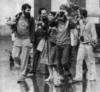 Сторонники мира участники велопробега Мира-83