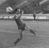 Давид Кипиани в молодости на футбольном поле
