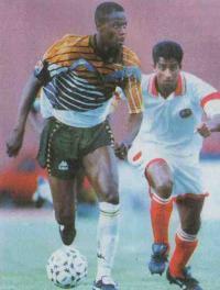 Филомен Масинга (сборная ЮАР) автор первого гола Кубка Африки