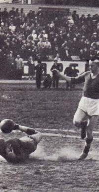 Футбольный матч на стадионе города Сокол