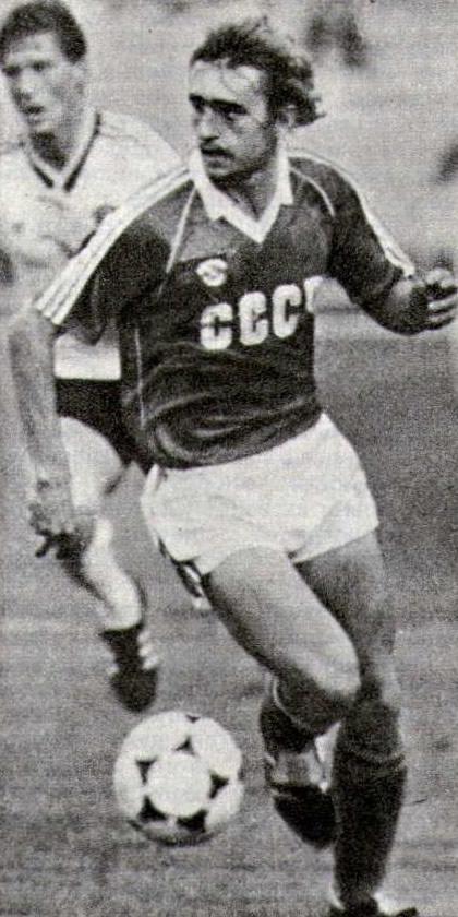 Левый полузащитник сборной СССР Федор Черенков