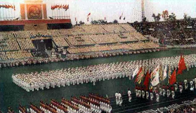 Парад физкультурников. 1954 год