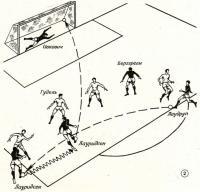 Рис. 2. Пятый гол датских футболистов
