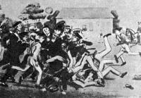 Так выглядело футбольное состязание в Кембридже полтора века назад