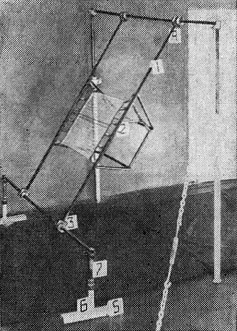 Рис. 2. Снарядный батут на перекладине