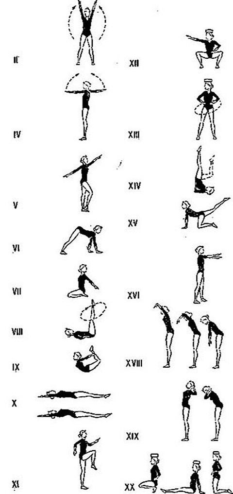 Рисунки комплекса упражнений