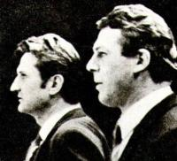 Тренеры чехословацкой команды Ян Старши и Франтишек Поспишил