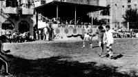 Футбольный матч на стадионе