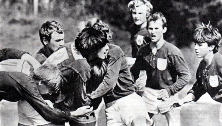 Играют юные регбисты Зеленограда и московского «Локомотива»