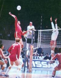 Лучший нападающий чемпионата Европы по волейболу Владимир Шкурихин