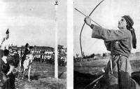 Меткость и умение скакать на лошади требуется от участников многих грузинских игр