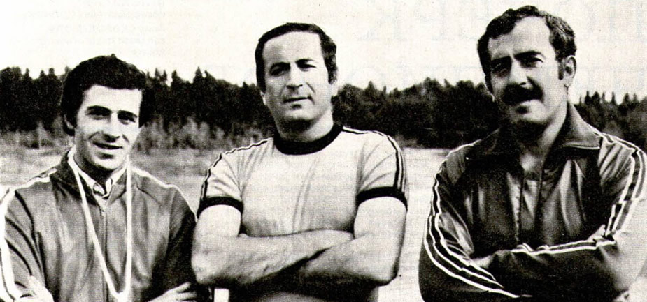 Слева направо Георгий Лебанидзе, Малхаз Корошинадзе, Вату Кевпишвили