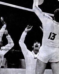 Связующему молодежной сборной команды СССР Виктору Сидельникову всего 18 лет