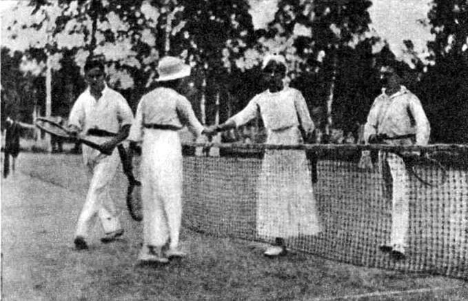 Теннисисты Сходненского спортивного кружка