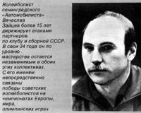 Волейболист ленинградского «Автомобилиста» Вячеслав Зайцев
